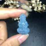 Mặt Phật Bà Quan Âm Đá Aquamarine