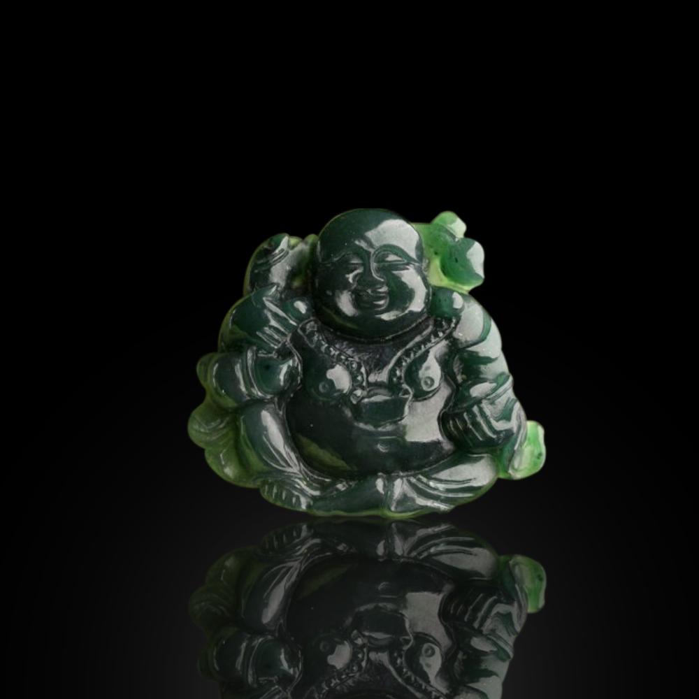 Mặt Phật Di Lặc Đá Ngọc Bích Nephrite