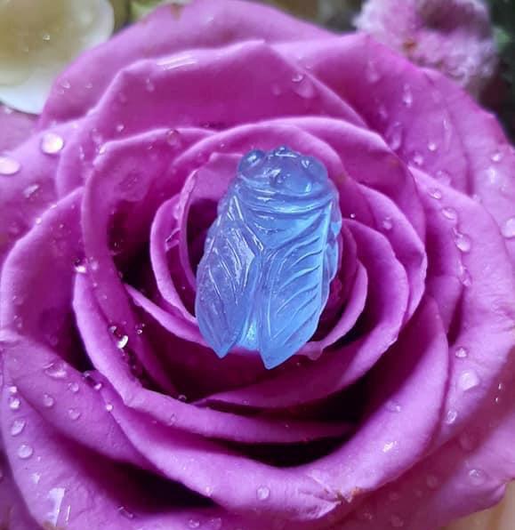 Ngọc Thiền Đá Aquamarine